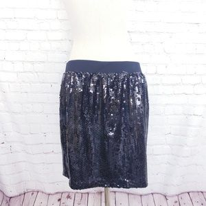 Black Sequined Miniskirt by INC